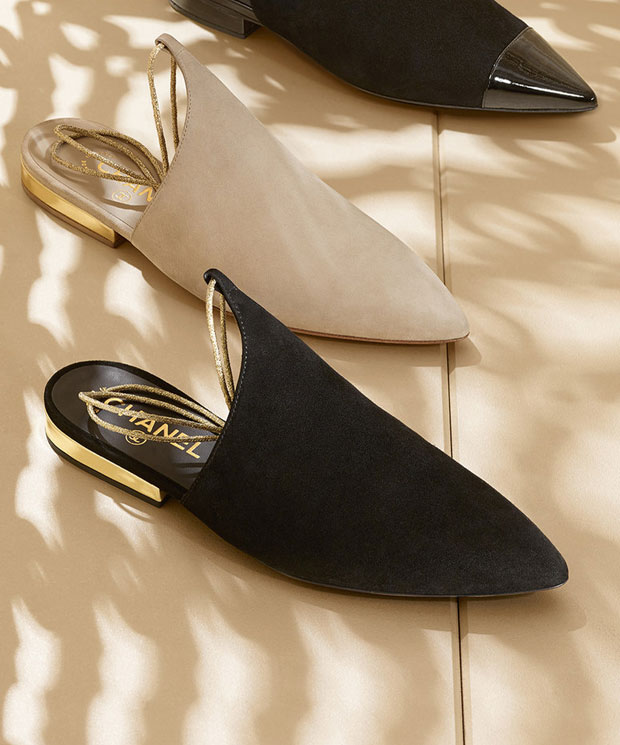 Elegant and Classic Chanel Slippers